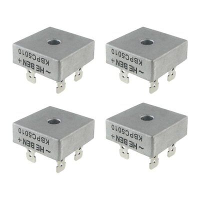 4X 50A 1000V Metal Case Single Phases Diode Bridge Rectifier KBPC5010 K8S9