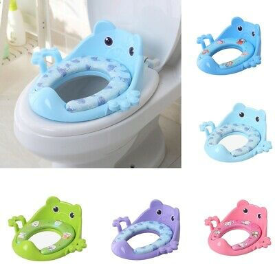 Kids Soft Pads Plastic Toilet Seat Baby Toddler Training Potty Trainer Cover