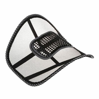 Mesh Back Lumbar Support Massage Beads For Car Seat Massage Cushion R9B4