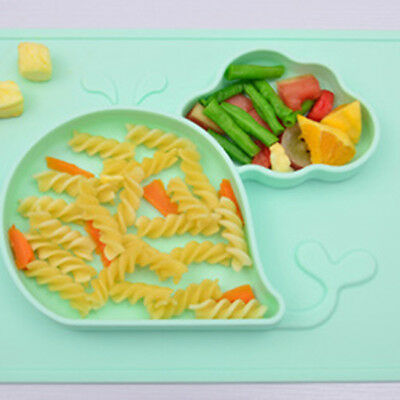 Cute Bowl Silicone Mat Baby Kids Child Suction Table Food Tray Placemat Plate S