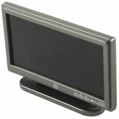 Dollhouse Miniature Widescreen Flat Panel LCD TV with Remote Gray I2A6