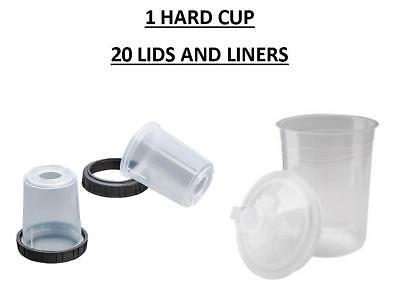 3M-16115 Pps Mini Size Starter Kit Hard Cup With 20 Lids And Liners (3M-16115)