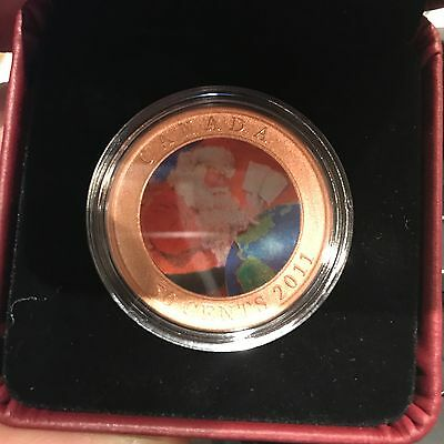 2011 Canada 50 cent Lenticular Coin - Gifts From Santa
