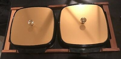 """Vintage Mid Century """"West Bend Thermo"""" Serv Casserole Dishes Insulated Gold"""