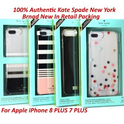 New Kate Spade NY Liquid Wrap Hard & Glitter Case iPhone 8 Plus 7 Plus & 8/7