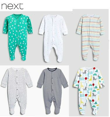 Next Baby grow Boy Girl Play body sleep suit Red White Blue Pink Rompers 0-24 m