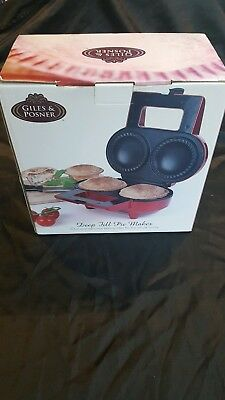 Giles & Posner BNIB Electric Double Deep Fill Pie Maker Non Stick Extra Thick