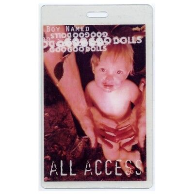 Goo Goo Dolls authentic 1995 concert Laminated Backstage Pass A Boy Named Tour