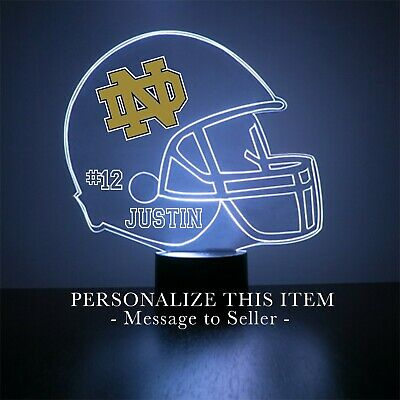 Notre Dame Fighting Irish Football Personalized FREE Engraved - Night Light Lamp