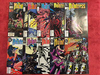 HUNTRESS 1 2 3 4 5 6 7 8 9 10 RUN of 10 VF+ DC 1989 Cavalieri Staton
