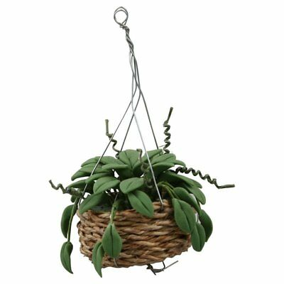 1/12 Scale Dollhouse Miniature Hanging Plant Garden Accessory U1K6