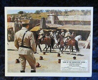 Guns Of The Magnificent Seven lobby cards  - mini set of 8 - George Kennedy