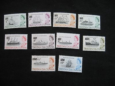 Tristan Da Cunha : 1971 Ship Definitive Decimal Surcharge set to 15p, UMM(MNH)