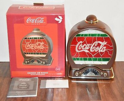 BRAND NEW 2004 Coca Cola Coke AM/FM Radio Cookie Jar w/ Lighted Dial Polyconcept