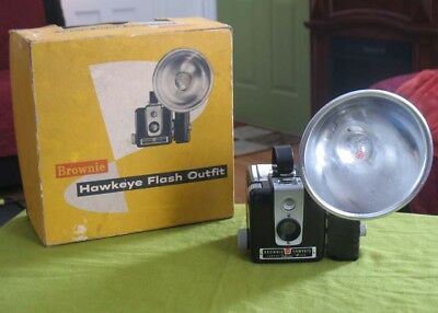 1950s Kodak Brownie Hawkeye Flash Outfit in Original Box
