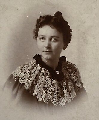 1880's Pretty Young Lady School Girl Named CABINET CARD PHOTO Oakland Ca