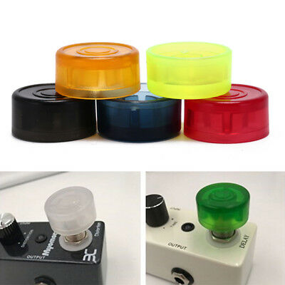 5pcs footswitch colorful plastic bumpers protector for guitar effect pedal