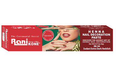 RANI Nail Henna Tattoo Paste Herbal Finest Quality Saudi Original HQ 6g