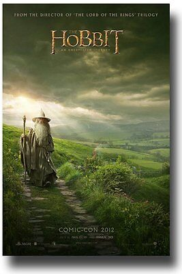 The Hobbit poster An Unexpected Journey movie poster - Lord Of The Rings poster