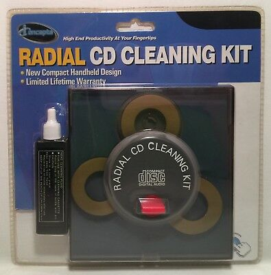 iConcepts Radial CD Cleaning Kit New Sealed