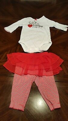 1f88e03fb CARTER'S BABY GIRL 3 Month Outfit Tutu Christmas GUC - $5.50 | PicClick