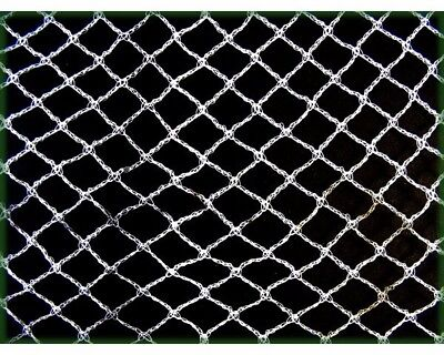 5m x 5m Knitted Anti Bird Netting WHITE - Commercial Pest Netting 35gsm
