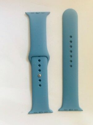 Genuine Apple Watch Sports Band 42mm Strap Azure Stainless Steel Pin