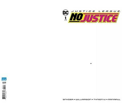Justice League No Justice #1 DC Comics 2018 Blank Sketch Variant Cover Snyder NM