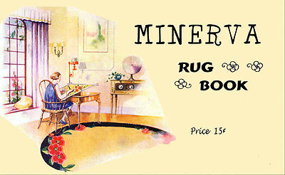 Minerva Color Rug Making Book c.1929 Vintage Designs And Tips to Make Rugs