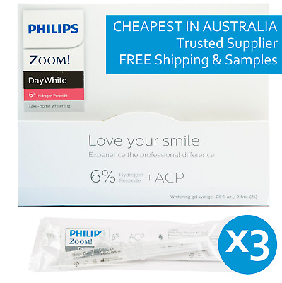 Philips Zoom! Daywhite Day White Acp 6% (3 Pack) Teeth Whitening Gel *clearance*