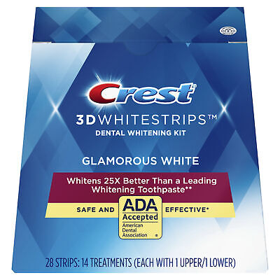Crest 3D White Whitestrips Luxe Glamorous White Pouches - Teeth Whitening Strips