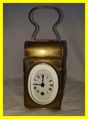 Interesting Marriage Clock, Made From C.1900 Movement And Earlier Carriage Lamp
