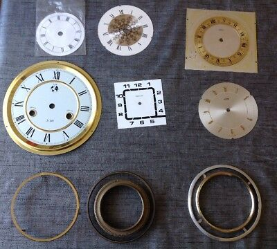 Antique Clock Dials Faces And Bezel Rings Clockmakers Spare Parts