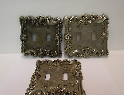 American Tack 1967 Double Light Switch Cover Rose Design - Set of 3  Vintage  XX