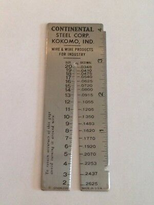 Vintage co wire gage measuring tool stainless usa advertising wire gage measuring tool stainless usa advertising greentooth Choice Image
