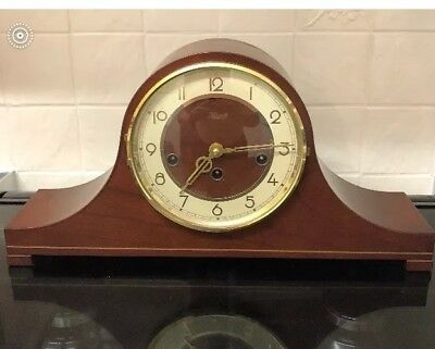 A Excellent German Franz Hermle & Sohn Mantel Clock With Inlay ++Working Order++