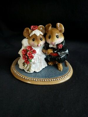 Wee Forest Folk 1994 The Wedding Pair Bride & Groom M200 Red Roses