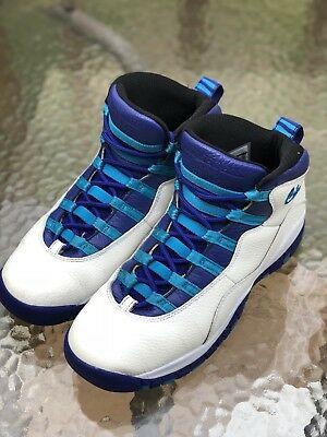finest selection f71c1 bb7fc Air Jordan 10 X Retro Size 6.5 Y Charlotte Hornets 310806 107 (Great  Condition)