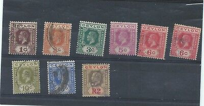 Ceylon stamps. Small George V used lot. The 2r has a thin  (V659)
