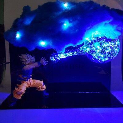 RARE New Dragon Ball Z Super Saiyan Goku Kamehameha Cloud Led Lamp