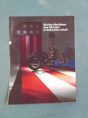 Harley Brochure Factory Catalog Shovel Boat Tail, Fx, Flh, Xlh, Xr750