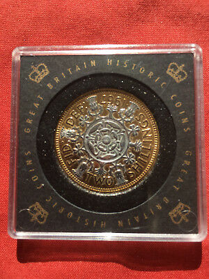 Elizabeth II Two Shillings Gold Plated Coin GB