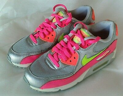 d5dd9d22e0 GIRLS NIKE AIR Max 90 Mesh trainers UK 5/38 724855 001 EXCELLENT ...