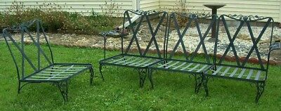 WOODARD CHANTILLY ROSE Wrought Iron Patio Furniture - 4 CHAIRS Sofa PICKUP