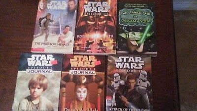 Lot of 9 Star Wars Books by Various Authors (paperback, various years)