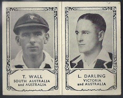 Barratt-Famous Cricket Folders X34 1934- South Australia Victoria - Wall Darling