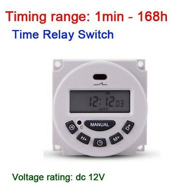 12V Digital LCD power Weekly Programmable Cycle Clock Timer Relay Switch Relay