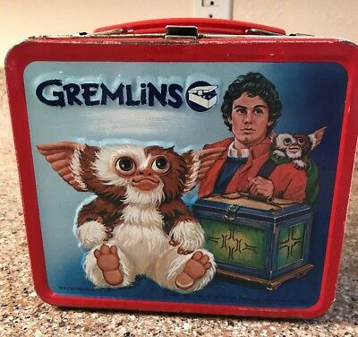 GREMLINS 1984 84 Gizmo Warner Brothers Metal Lunchbox Lunch Box No Thermos
