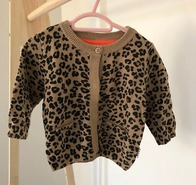 Baby Girl's Gorgeous Leopard Print Cardigan Size 0 (6-12 months)