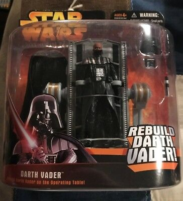 Star Wars ROTS Rebuild Darth Vader and Operating Table Action Figure NIC